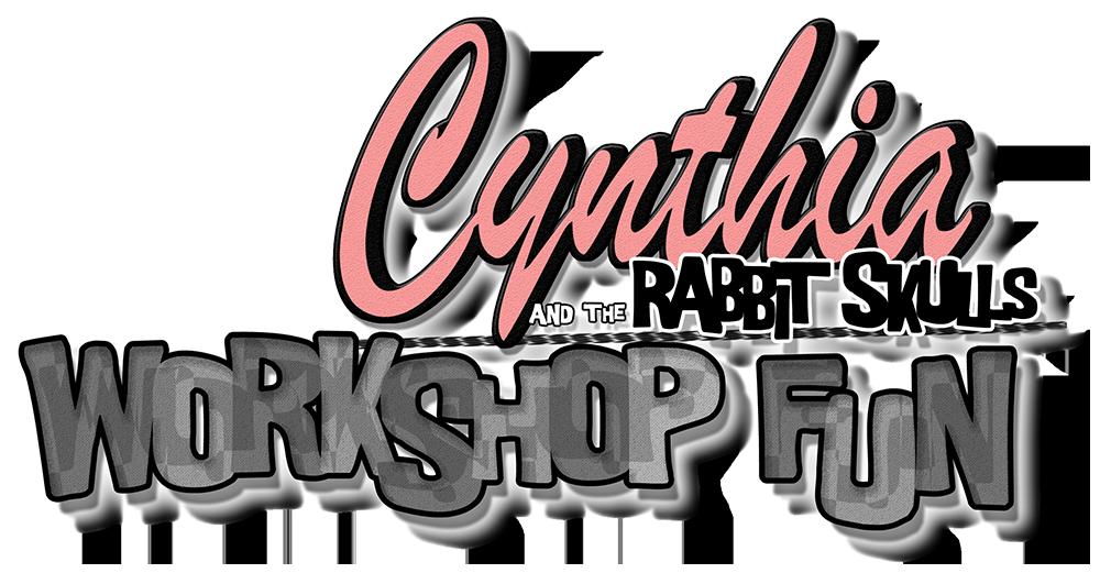 cynthia and the rabbit skulls: workshop fun